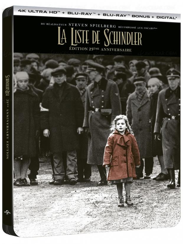 La liste de Schindler 25eanniversaire, le Collector 4KUltraHD le 20mars