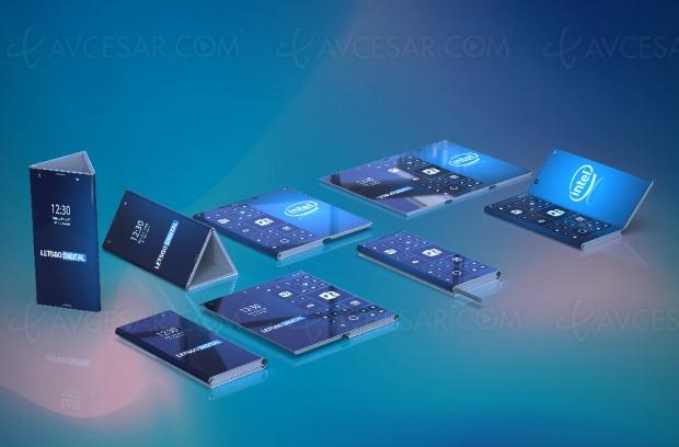 Intel aussi prépare un smartphone pliable, à troissections