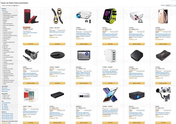 Soldes hiver 2019 Amazon, 1 916 produits high‑tech à prix incroyable, jusqu'à ‑90%