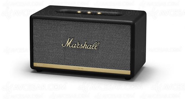 Marshall Stanmore II Voice Speaker, enceintes Bluetooth/Wi‑Fi 2.1 Amazon Alexa ou Google Assistant