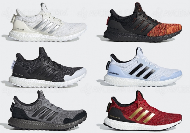 Baskets Adidas Game of Thrones, les 7 royaumes au complet