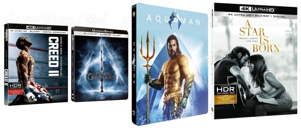 Aquaman 4K, Creed II 4K, Les animaux fantastiques 2 4K, A Star is Born 4K, enfin les dates !
