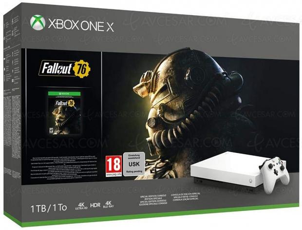 Soldes hiver 2019 Amazon, Xbox One X + Fallout 76 à 389 €, soit 111 € de réduction