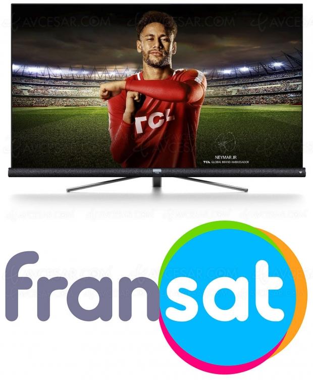 TV TCL, désormais certifiés Fransat