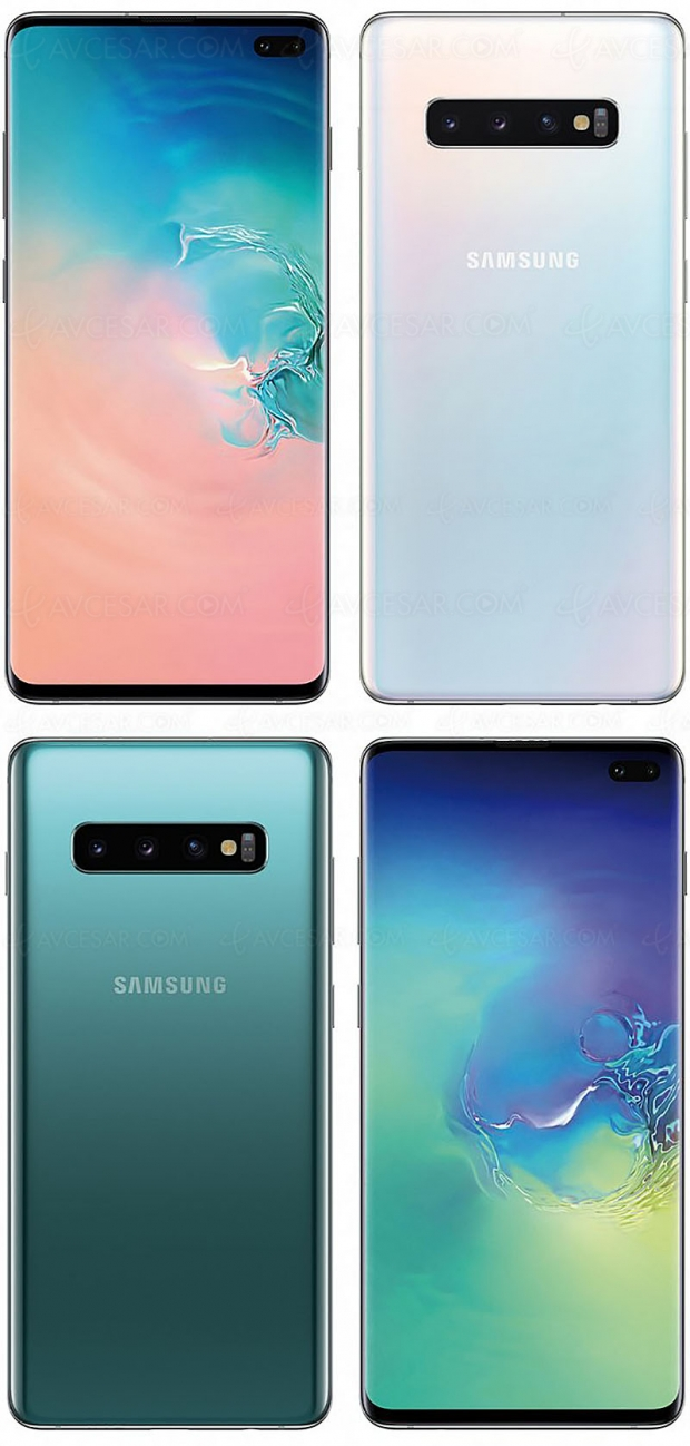 Nouvelles images Samsung Galaxy S10, S10E et S10+