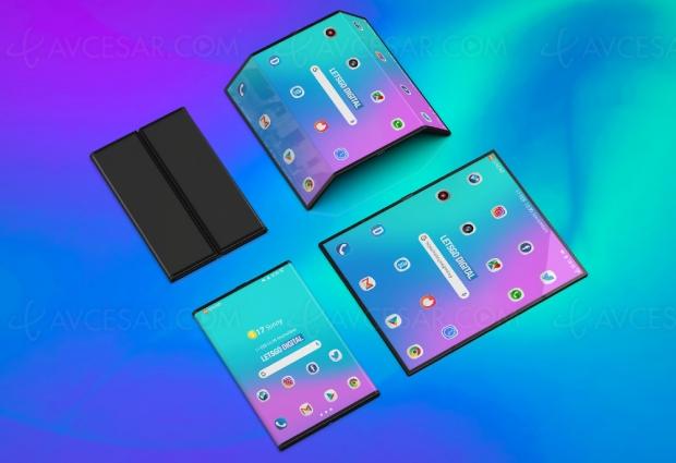 Belles images du smartphone Xiaomi Dual Flex (ou Mix Flex)