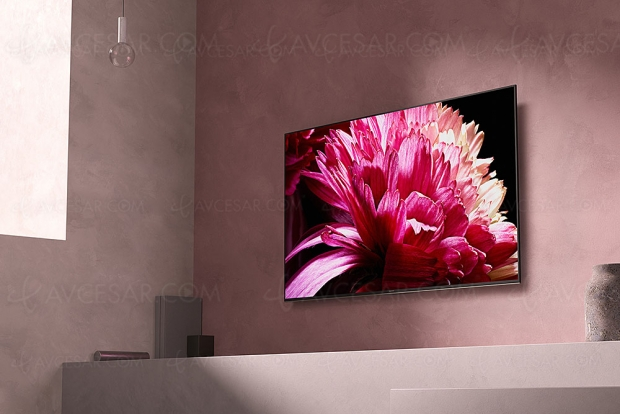 TV LED Ultra HD Sony XG9505, mise à jour prix indicatifs