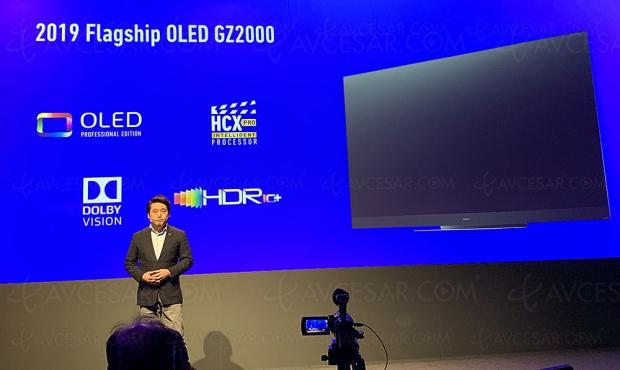 TV Oled Panasonic GZ2000, 55'' et65'': mise àjour spécificationstechniques
