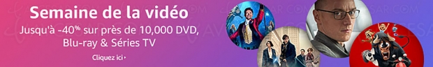 Amazon Semaine de la vidéo, 10 000 BD/DVD et séries TV à petit prix, jusqu'à -58%