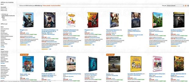 Promo Amazon, 3 Blu-Ray ou DVD achetés, un 4e et un 5e offerts
