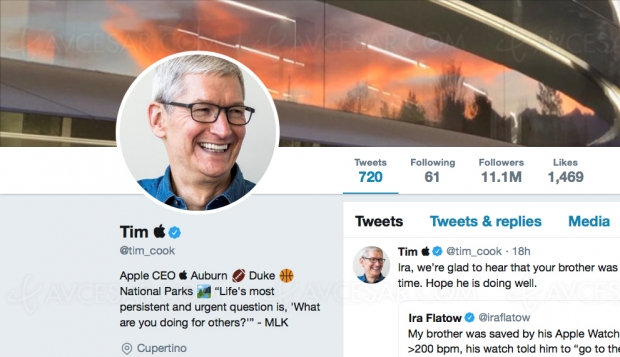 Donald Trump remercie Tim Cook le président d'Apple, alias « Tim Apple »