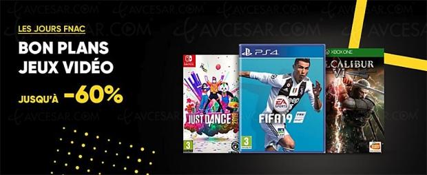🔥 Bon plan Jours Fnac jeu vidéo, jusqu'à -60% sur 84 jeux PC, PS4, Switch et Xbox One