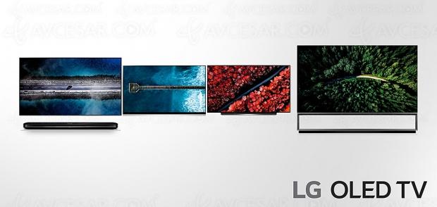 TV Oled LG 2019, annonce des prix indicatifs US des séries LG C9, LG E9 et LG W9
