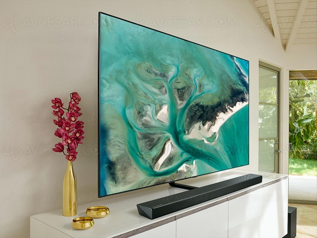 Samsung HW‑Q70R, barre sonore Dolby Atmos 3.1.2/DTS:X, Bluetooth et Acoustic Beam
