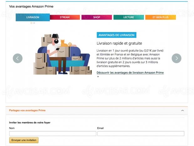 Partager son compte Amazon Prime avec un proche