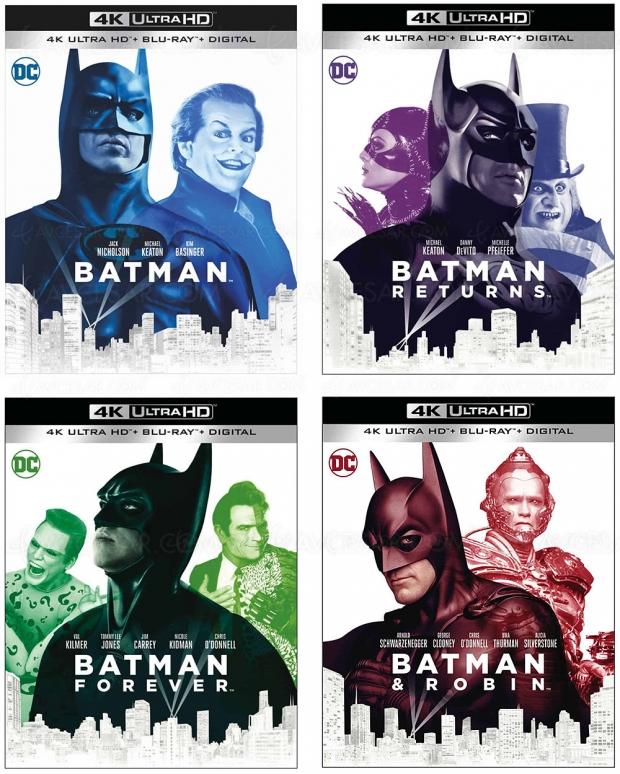 4 Batman en 4K Ultra HD officiellement annoncés, et même un 5e