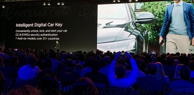 Clé de contact Audi Connect pour Huawei P30 Pro et Huawei P30