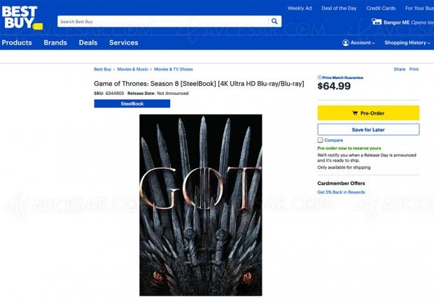 Game of Thrones saison 8 : teaser de l'épisode 2 (vidéo) + 4K Ultra HD déjà en précommande