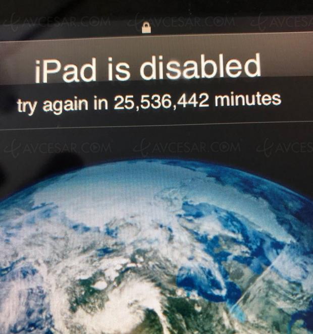iPad verrouillé jusqu'en 2067…