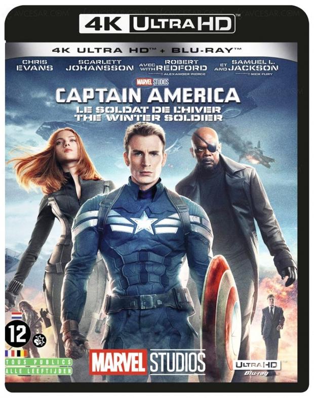 Captain America : le soldat de l'hiver + Civil War, deux éditions 4K Ultra HD en approche