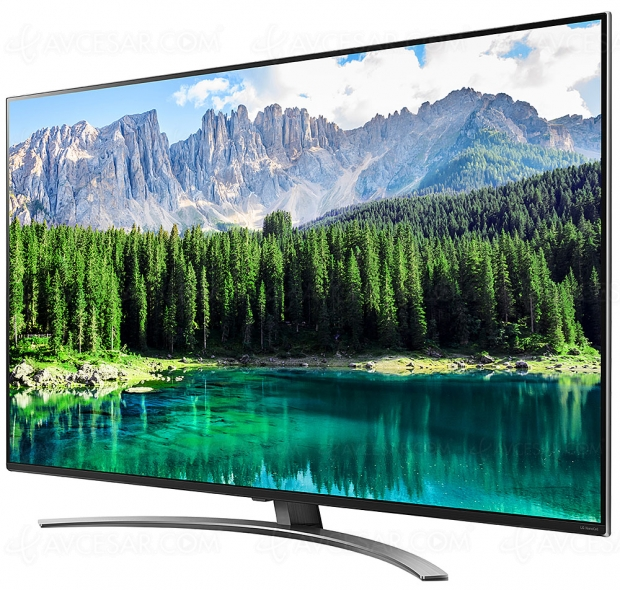 TV LED NanoCell Ultra HD LG 75SM8610, processeur Alpha 7 Gen 2, 100 Hz, compatibilité Wisa…