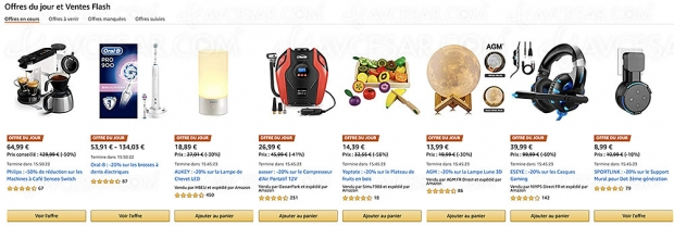 French Days, ventes flash et promotions Amazon, 10 000 produits jusqu'à -96%