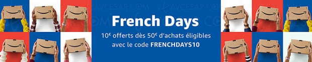 French Days Amazon, 10 € offerts dès 50 € d'achats