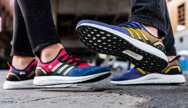 Adidas Avengers « Captain Marvel » et « Thanos » chez Footlocker