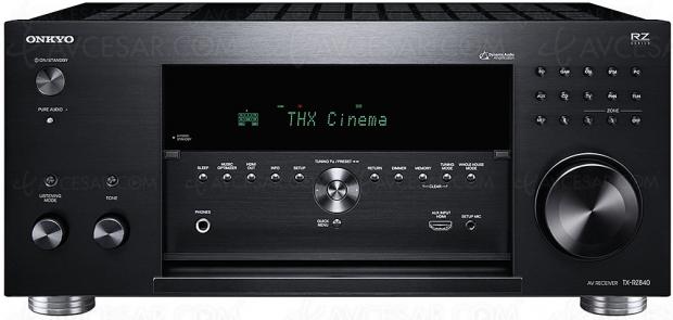 Onkyo TX-RZ840, ampli 9.2, Dolby Atmos, DTS:X, THX Select, HDMI 2.0b, HDCP 2.2, FlareConnect, ChromeCast, DTS Play‑Fi…