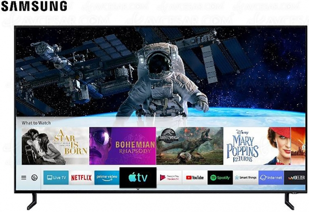 Apple TV, iTunes et AirPlay 2 déjà disponibles sur les Smart TV Samsung