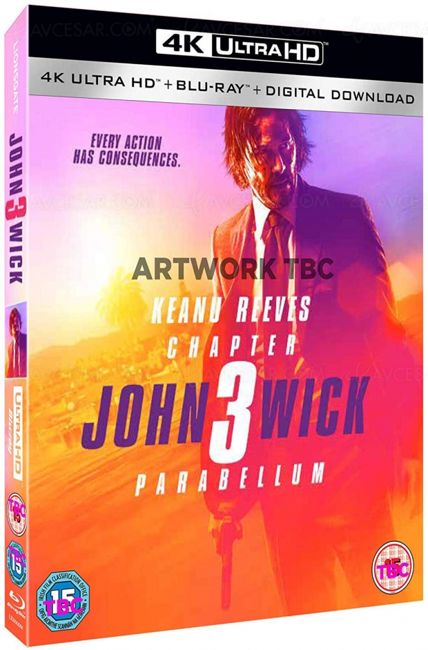John Wick Chapter 3 Parabellum 4K Ultra HD, nouvelle trilogie pour Keanu Reeves