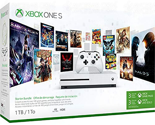 Bon plan Amazon, Xbox One S + abo 3 mois Game Pass + 3 mois Live Gold