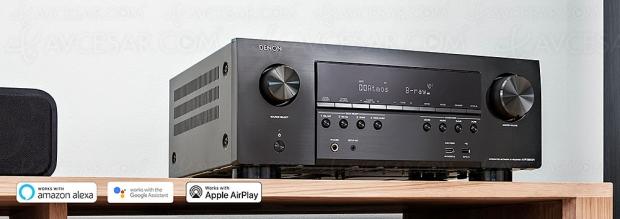 Denon AVR-S950H, ampli 7.2 Bluetooth TX, HDMI 2.0b, HDR10, HDR Dolby Vision, HDCP 2.3, Alexa, Google Assistant, Siri…