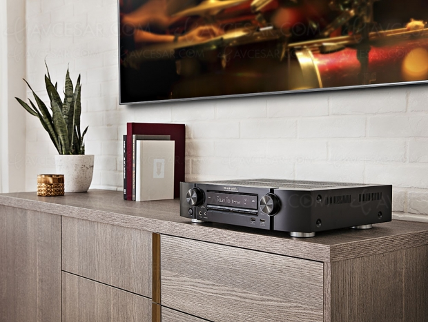 Marantz NR1510, ampli Slim 5.2, Alexa, Google Assistant, Siri, multiroom Heos, Dolby TrueHD, DTS‑HD, HDR Dolby Vision, HDR HLG…