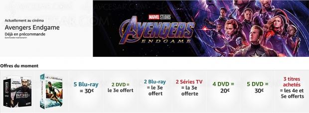 Promos Amazon sur 2 100 titres 4K Ultra HD Blu‑Ray, Blu‑Ray/DVD et séries TV, récapitulatif des meilleures promos du moment