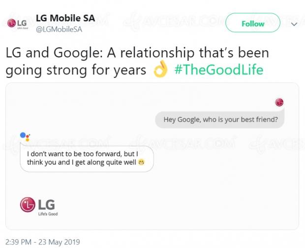 Huawei dans la panade, LG se moque ?