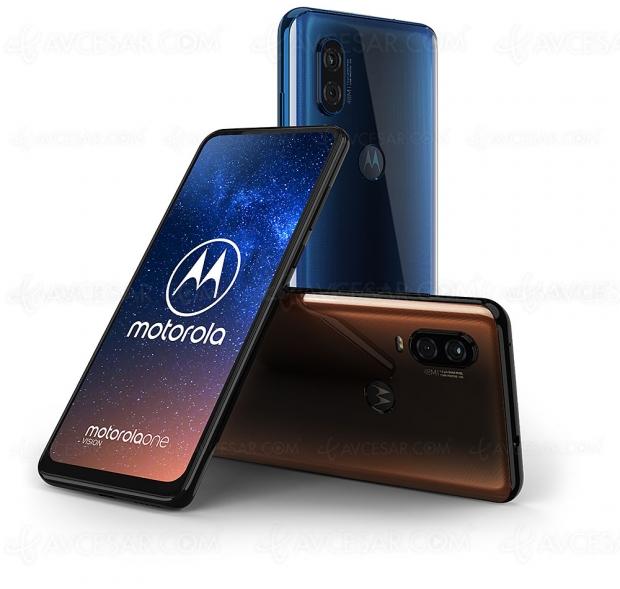 Motorola One Vision, APN 48 Mpxls, écran 21/9, 128 Go et Android One