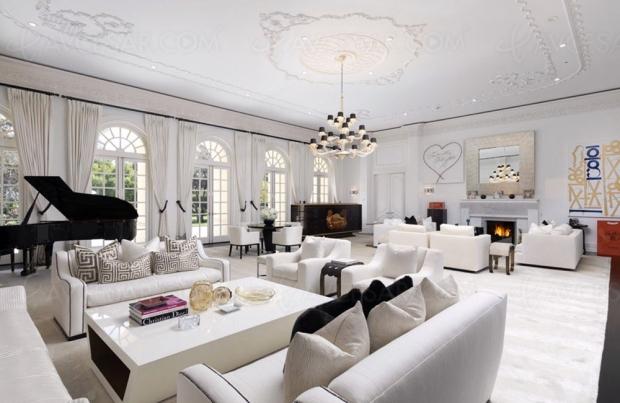 Maison à vendre, ou plutôt l'ancien manoir d'Aaron Spelling avec Home Cinéma grand luxe