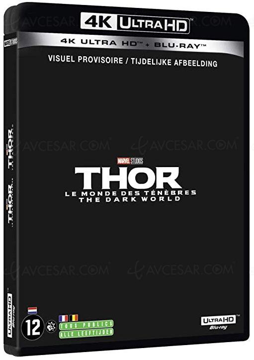 Thor, Thor 2, Iron Man 2, Iron Man 3 en 4K Ultra HD au mois d'août