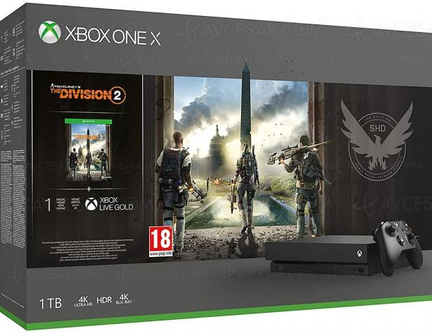 Bons plans Amazon, Xbox One X 1 To + 1 ou 2 jeux + 1 mois Xbox Live Gold à 399,99 €, soit 20% de réduction