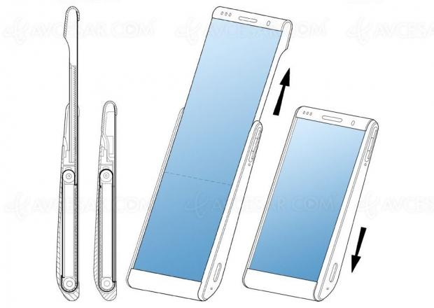 Dernier brevet Samsung : nouveau smartphone à écran enroulable