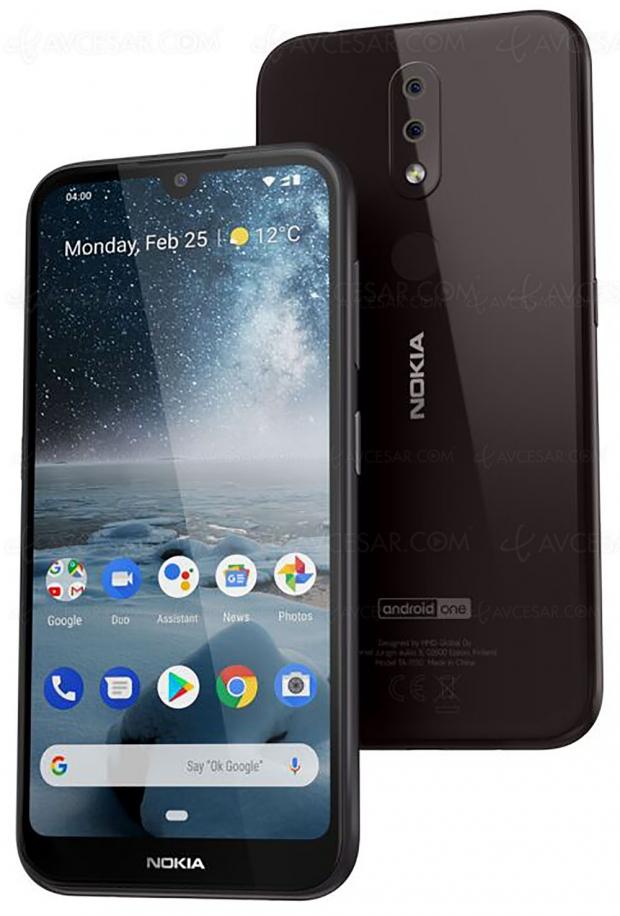 Smartphone Nokia 4.2, premium d'aspect, pas de prix