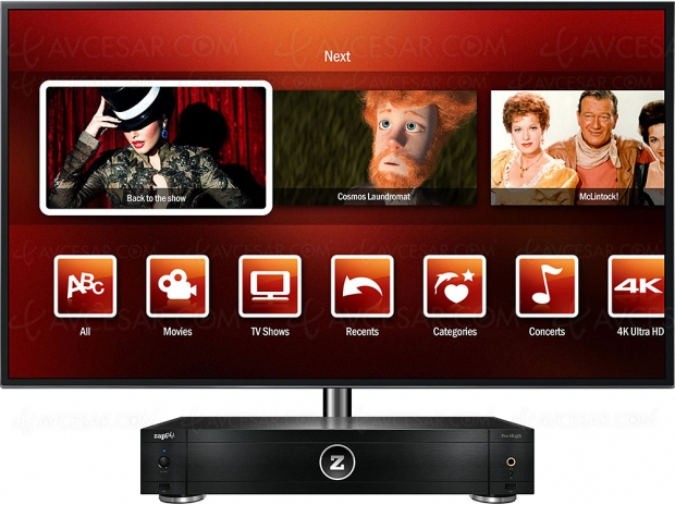 Nouveau Zappiti Pro 4K HDR, double sortie HDMI, double rack HDD et report infrarouge