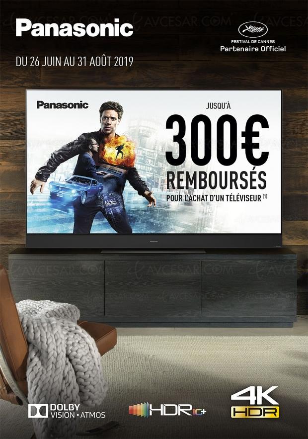 Offre de remboursement Panasonic TV Oled et LED Ultra HD, jusqu'à 300 € remboursés