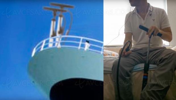 La chanson de Titanic (Céline Dion)… à la pompe à vélo