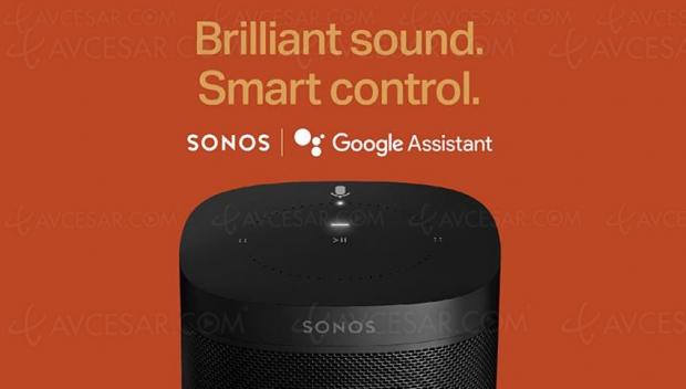 Google Assistant disponible sur les enceintes Sonos