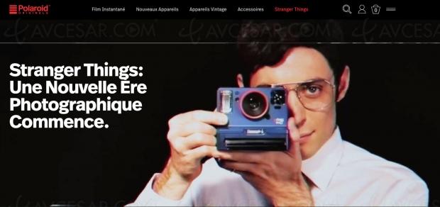 Jeu vidéo Stranger Things caché sur le site Polaroid Originals
