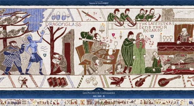 La tapisserie Game of Thrones bientôt complète et visible à Bayeux en France