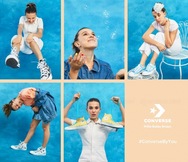 Millie Bobby Brown, la star de Stranger Things, lance sa collection de Converse