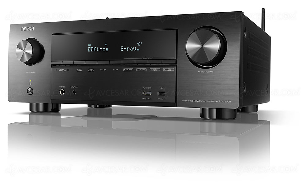 Denon AVR-X3600H, amplificateur 9 2 Bluetooth, HDMI 2 0b